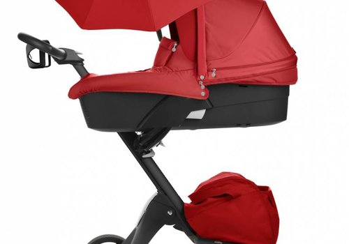 Stokke 2017 Stokke Xplory 3 In1 Red -Black Chassis -Seat, Parasol, Cup Holder  and Textile Set