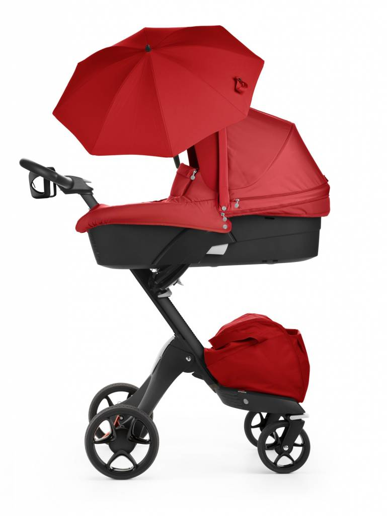 Stokke 2017 Stokke Xplory 3 In1 Red Black Chassis Seat Parasol