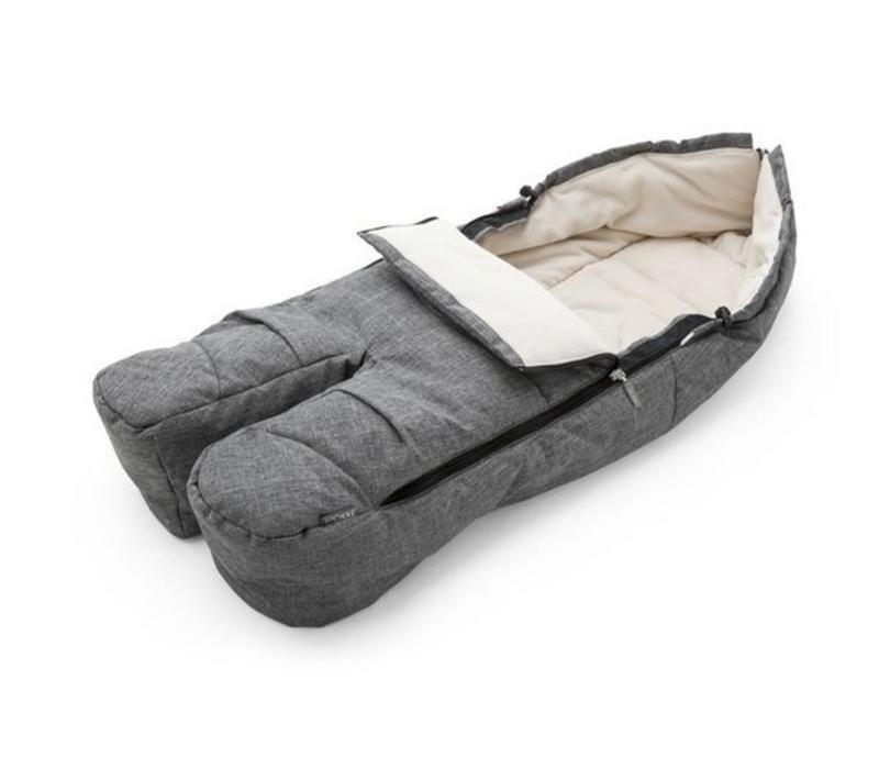Stokke Xplory, Crusi Or Trailz Footmuff In Grey Melange For Seat