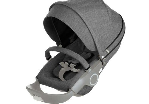 Stokke Stokke Xplory Or Crusi Seat Complete In Black Melange- Seat With Style Kit Set