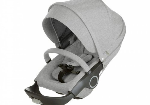 Stokke Stokke Xplory Or Crusi Seat Complete In Grey Melange Seat With Style Kit Set