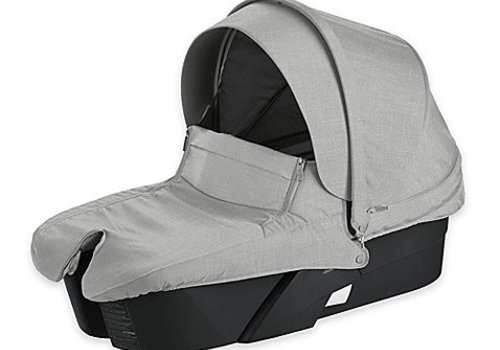 Stokke Stokke Xplory Carrycot In Black Frame-Grey Melange Fabric