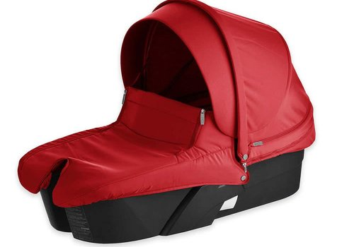 Stokke Stokke Xplory Carrycot With Textile Set In Red With Black Frame