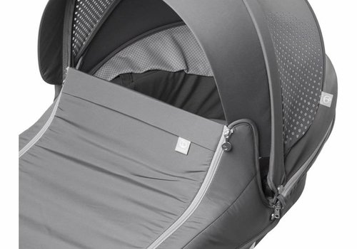 Stokke Stokke Xplory Carrycot In Silver Frame-Athleisure Grey Fabric
