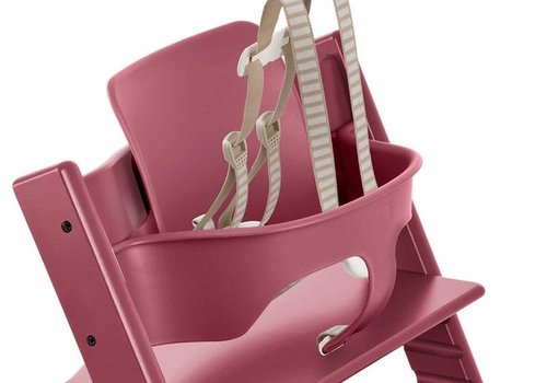 Stokke Stokke Tripp Trapp Baby Set In Heather Pink