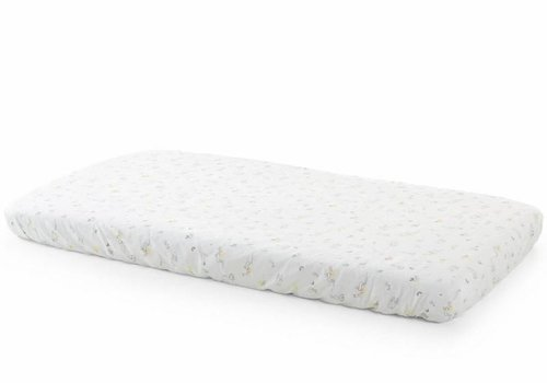 Stokke Stokke Home Bed Fit Sheet 2pc In White/ Soft Rabbit
