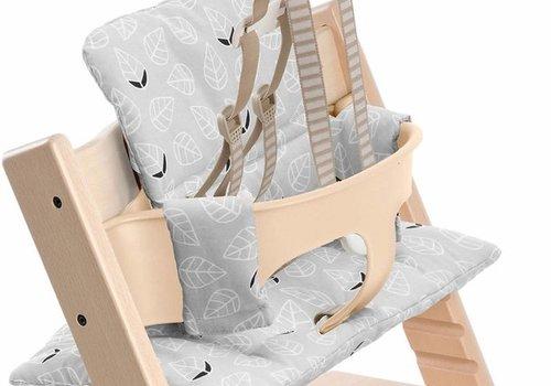 Stokke Stokke Tripp Trapp Cushions In Grey Leaf (Coated)