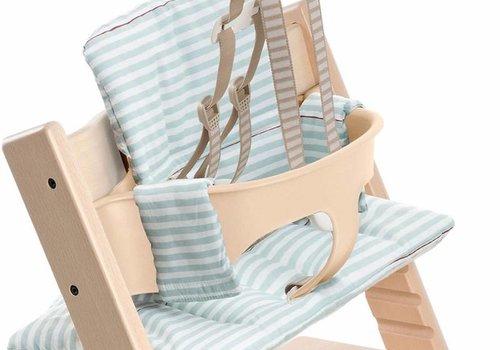 Stokke Stokke Tripp Trapp Cushions In Aqua Stripes (Coated)