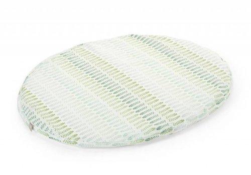 Stokke Stokke Sleepi Mini (Bassinet) Fitted Sheet In Aqua Straw