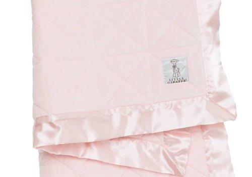 Little Giraffe Little Giraffe Bliss Cross Quilt Blanket in Pink