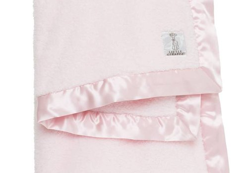 Little Giraffe Little Giraffe Chenille Blanket In Pink