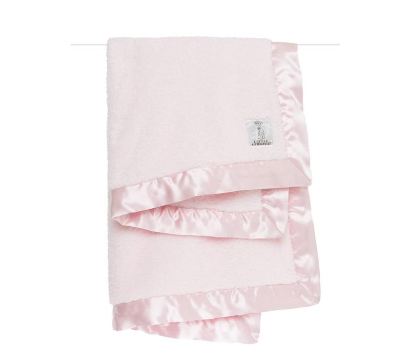 Little Giraffe Chenille Blanket In Pink