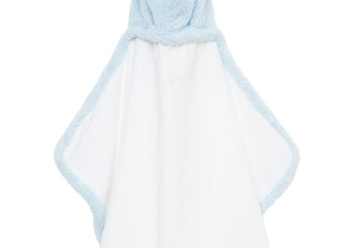 Little Giraffe Little Giraffe Chenille Towel Hooded Towel In Blue