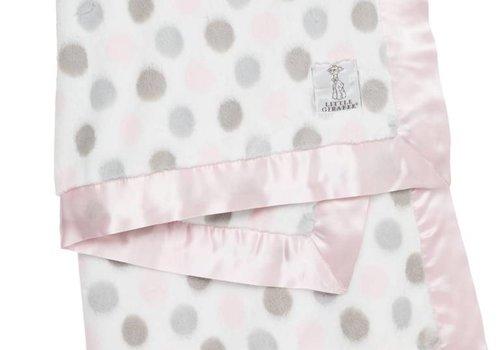 Little Giraffe Little Giraffe Luxe Dot Blanket In Pink