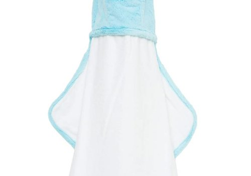 Little Giraffe Little Giraffe Luxe Hooded Towel With Ears In Aqua