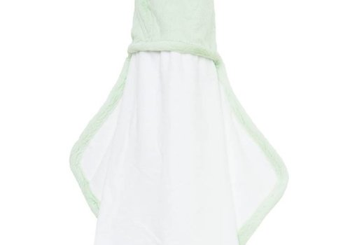 Little Giraffe Little Giraffe Luxe Hooded Towel With Ears In Celadon