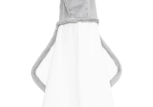 Little Giraffe Little Giraffe Luxe Hooded Towel With Ears In Silver