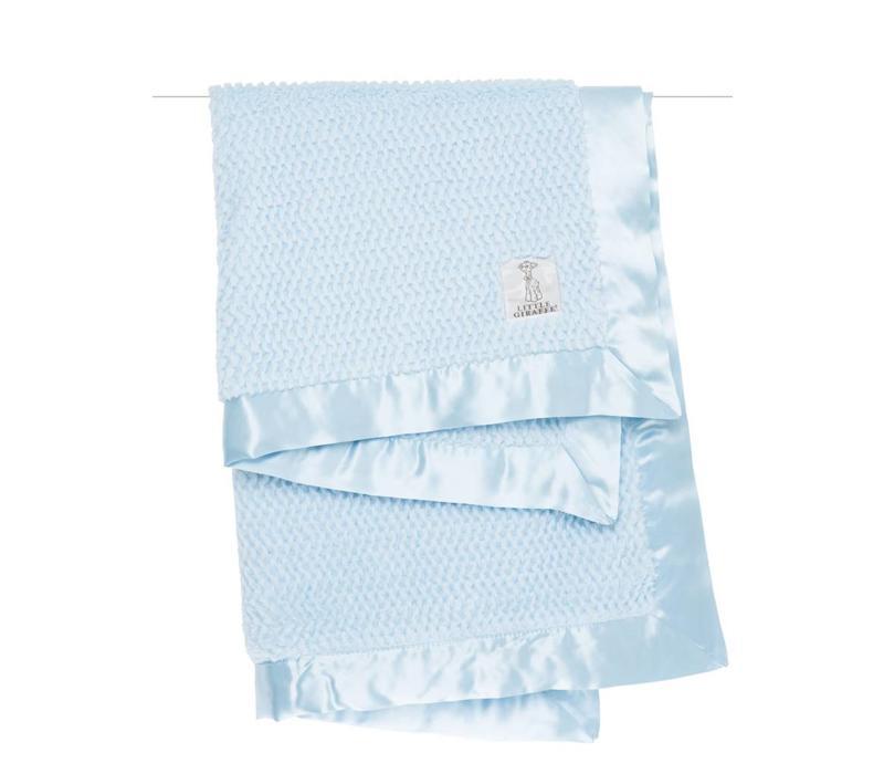 Little Giraffe Luxe Twist Blanket In Blue