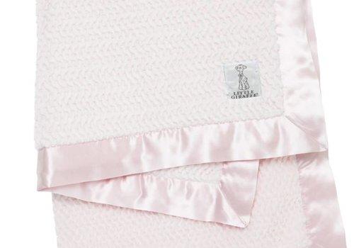 Little Giraffe Little Giraffe Luxe Twist Blanket In Pink