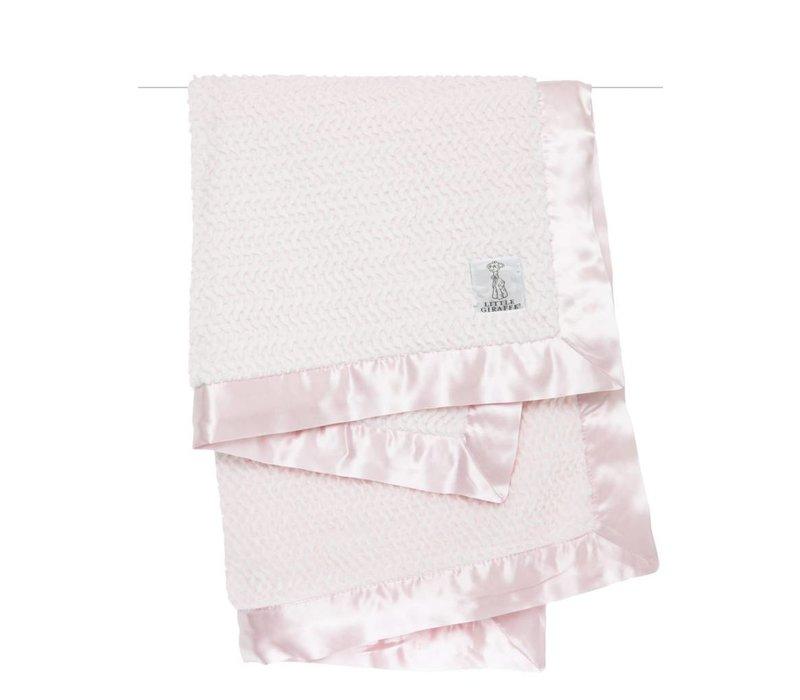 Little Giraffe Luxe Twist Blanket In Pink