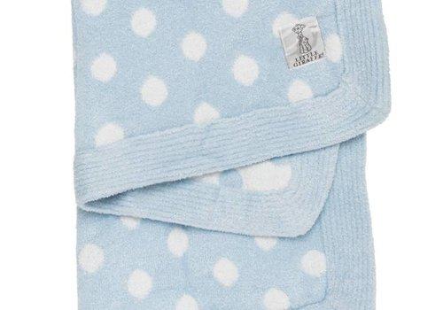 Little Giraffe Little Giraffe Dolce Dot Blanket In Blue