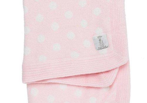Little Giraffe Little Giraffe Dolce Dot Blanket In Pink