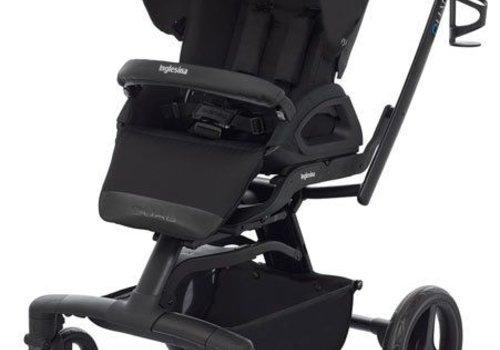 Inglesina 2017 Quad Stroller In Total Black