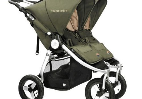 Bumbleride 2017 Bumbleride Indie Twin Stroller In Camp Green