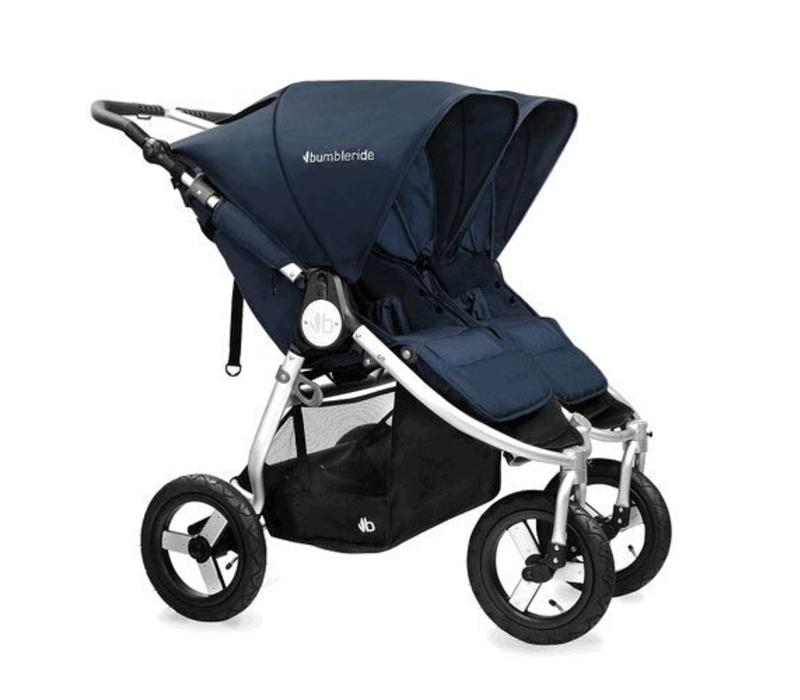 2017 Bumbleride Indie Twin Stroller In Maritime Blue