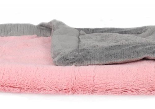 Saranoni Saranoni Blanket In Pink Lush/Gray Lush Toddler to Teen Large 40'' x 60''