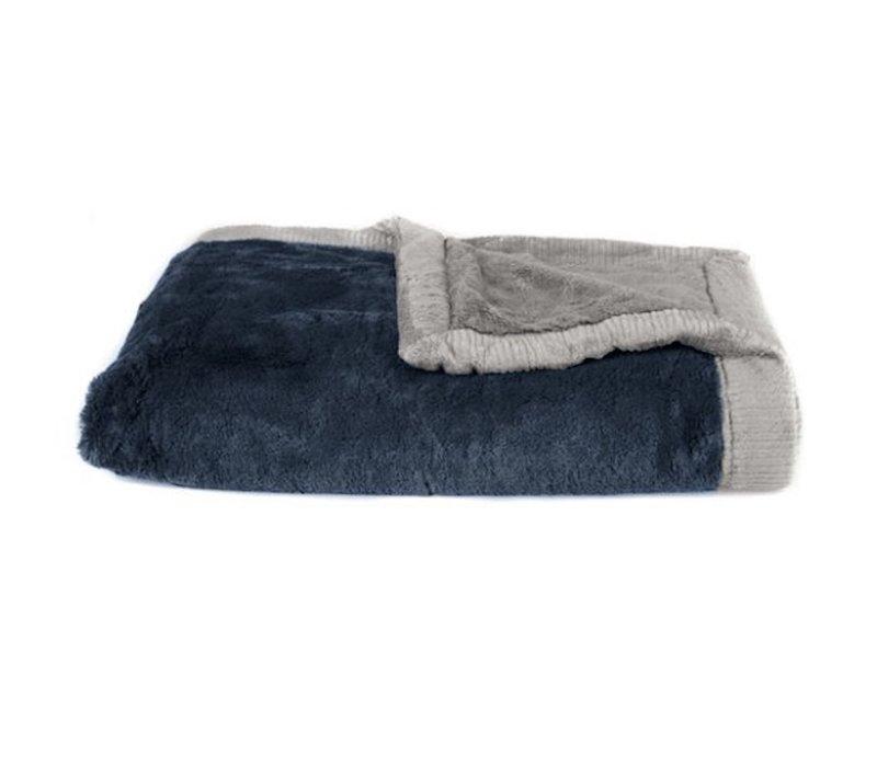 "Saranoni Blanket In Navy/Gray Toddler to Teen  Large 40"" x 60"""