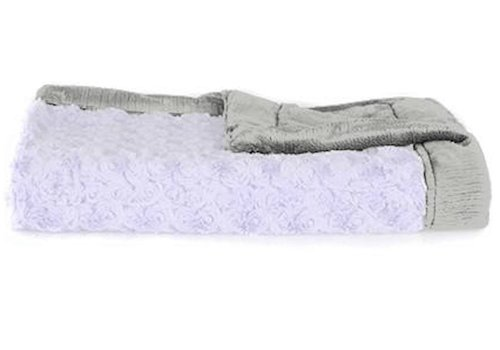 "Saranoni Saranoni Receiving Blanket In Lavendar/Gray Medium 30"" x 40"""