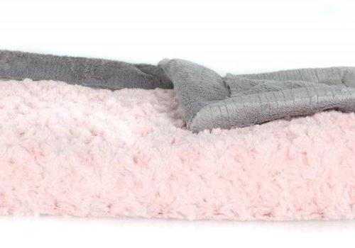 """Saranoni Saranoni Blanket Light Pink /Ash Lush Large Blanket 40"""" x 60"""""""