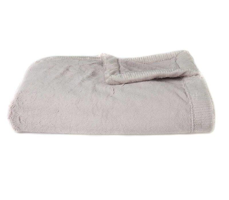 Saranoni Receiving Blanket In Feather Gray Lush/Feather Gray Lush Medium 30'' x 40''