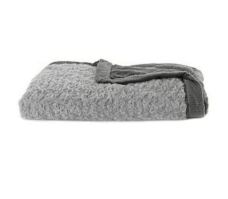 "Saranoni Receiving Blanket In Gray Swirl/Charcoal Lush Medium 30"" x 40"""