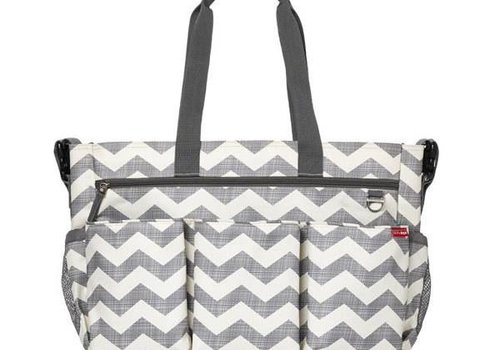 Skip Hop Skip Hop Duo Double Side By Side Diaper Bag In Signature Chevron