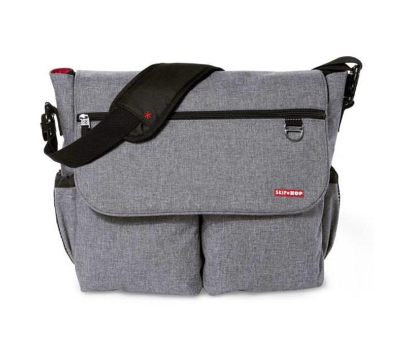 Skip Hop Dash Messenger Diaper Bag In Heather Grey