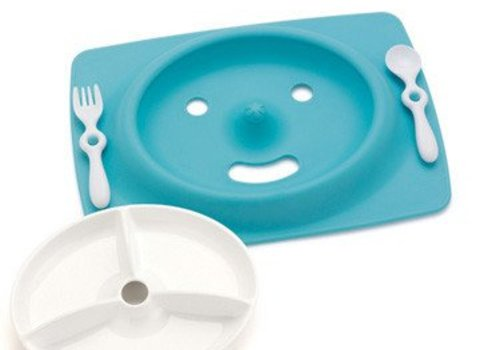 Skip Hop SALE!!! Skip Hop Mate Feeding Plate And Utensils In Sky Blue