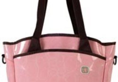Fleurville CLOSEOUT!! Fleurville Sling Tote Diaper Bag In Loveknots Pink