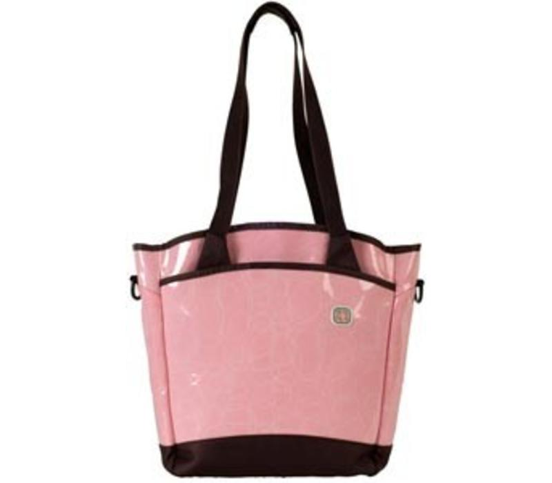 CLOSEOUT!! Fleurville Sling Tote Diaper Bag In Loveknots Pink