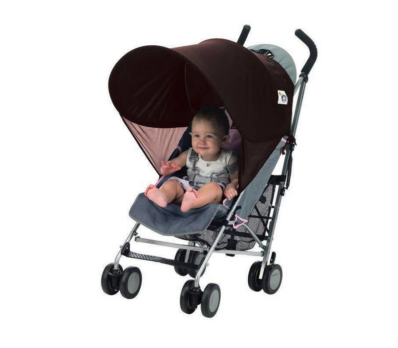 Protect-A-Bub Compact Single Sunshade In Brown