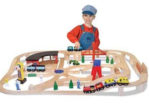 Melissa And Doug Melissa And Doug Wooden Railway Set