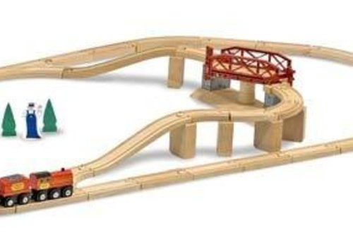 Melissa And Doug Melissa And Doug Swivel Bridge Train Set