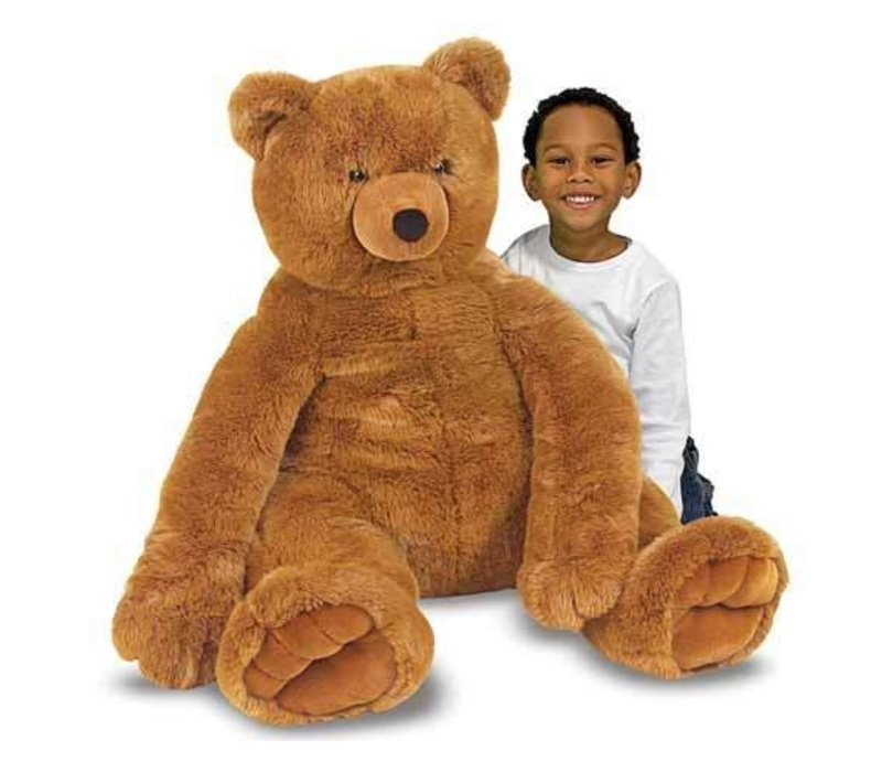 Melissa And Doug Plush Jumbo Brown Teddy Bear
