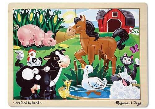 Melissa And Doug Melissa And Doug On The Farm Jigsaw Puzzle 12pc