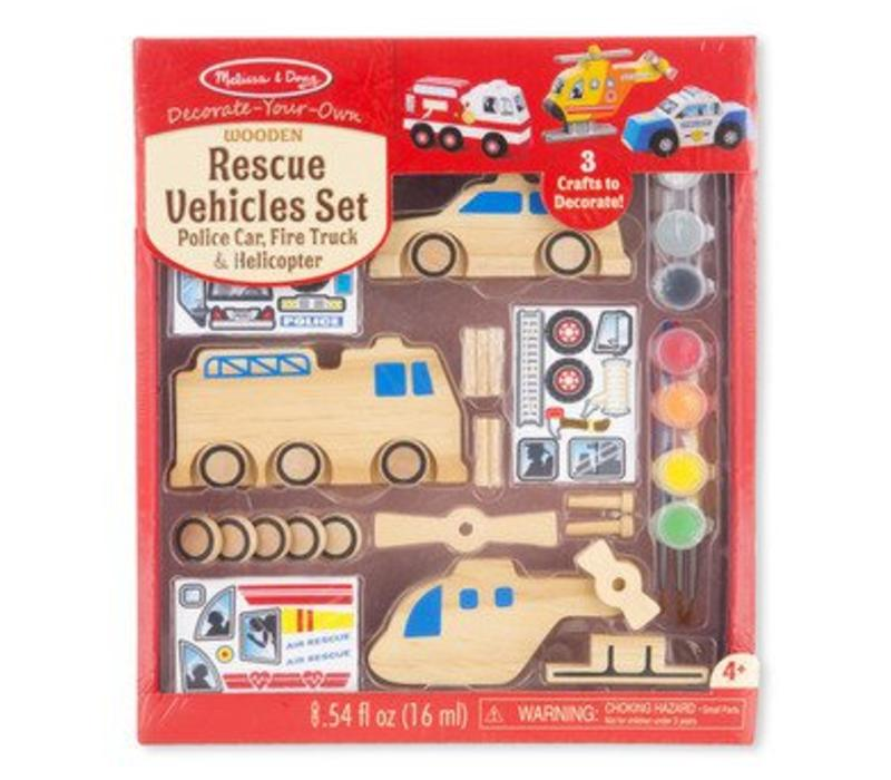 Melissa And Doug Rescue Vehicles Set