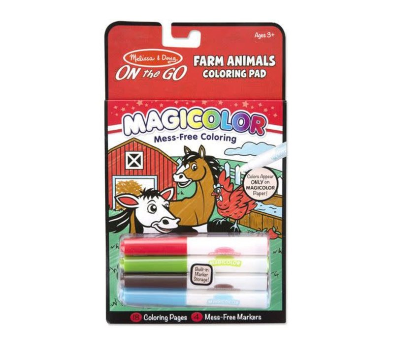 Melissa And Doug Magicolor Coloring Pad- Farm Animals