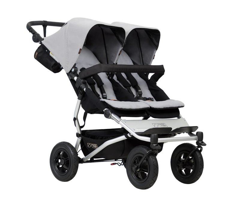 Mountain Buggy Duet Double In Silver