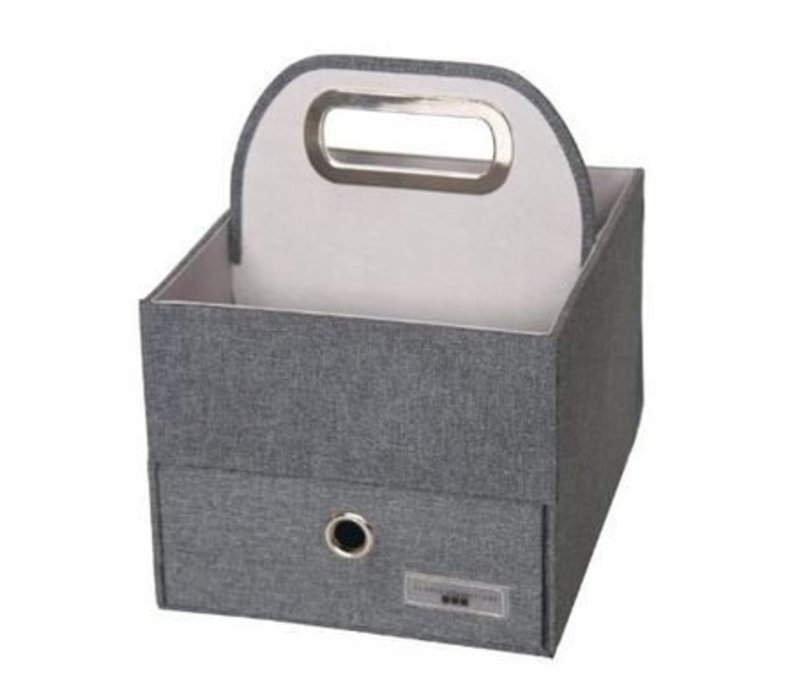 JJ Cole Diapers And Wipes Caddy In Slate Heather