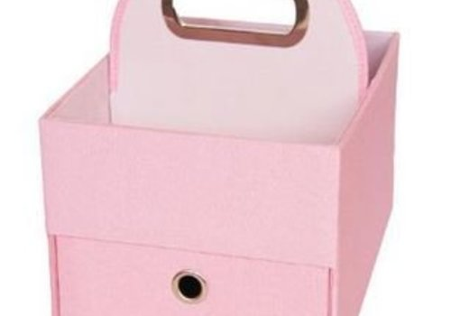 JJ Cole Collections JJ Cole Diapers And Wipes Caddy In Pink Heather